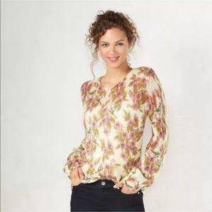 Lauren Conrad Disney Snow White Floral Sweater S